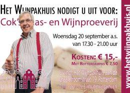 Cok's Kaas- en Wijnproeverij op woensdag 20 september 2017