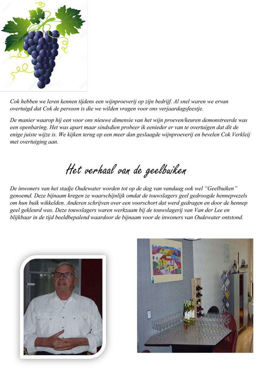 Wijnproeverij in Pijnacker verzorgd door Cok Verkleij en Het Wijnpakhuis op 22 juli 2017